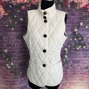 Lafayette 148 New York Quilted Vest Small